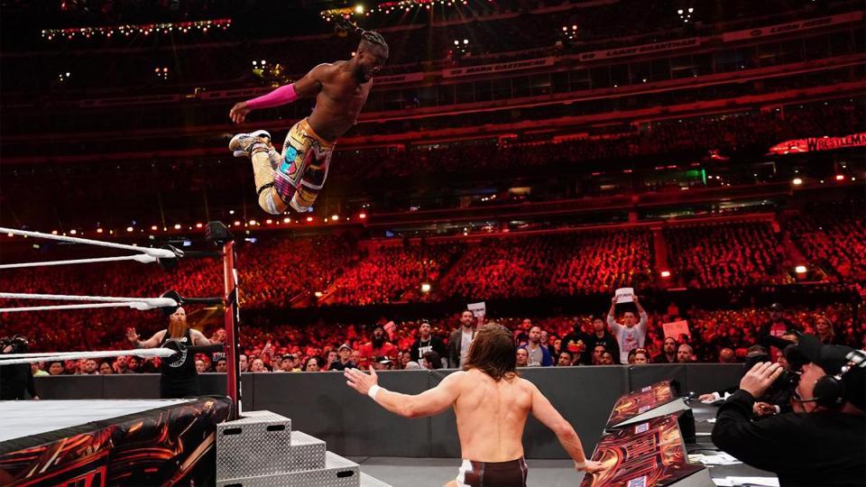 WWE WrestleMania 35: Kofi Kingston jumps at Daniel Bryan