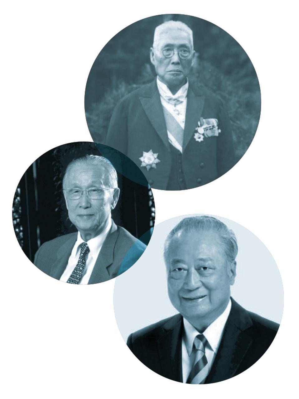 From top: Koo Hsien-jung, Koo Chen-Fu and Jeffrey Koo Sr.