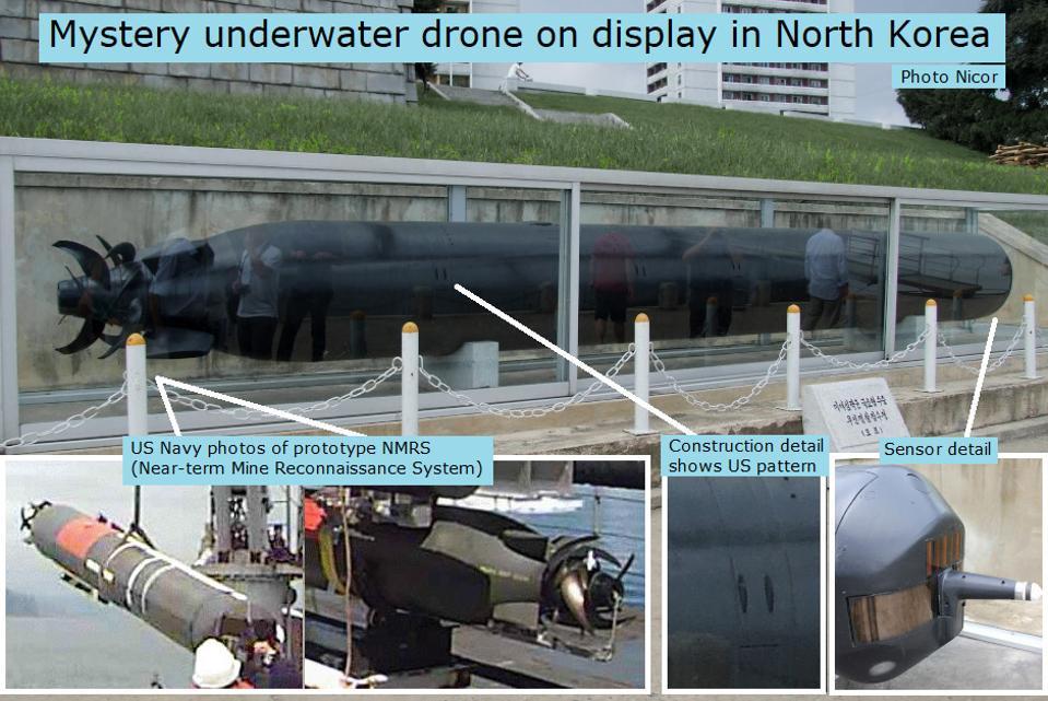 North Korean mystery UUV in Pyongyang