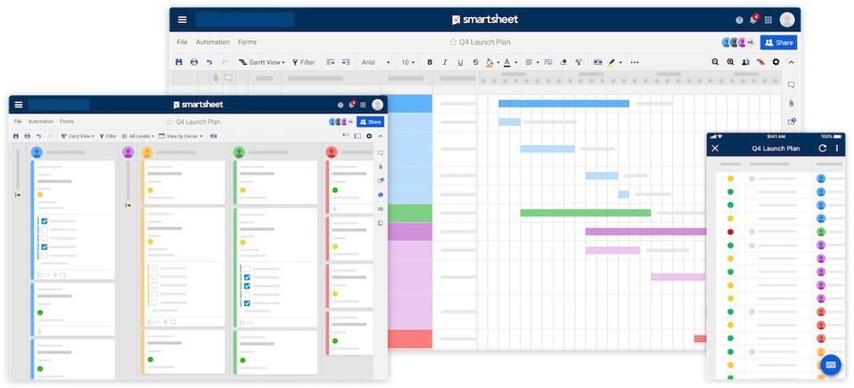 multiple-device-views on Smartsheet