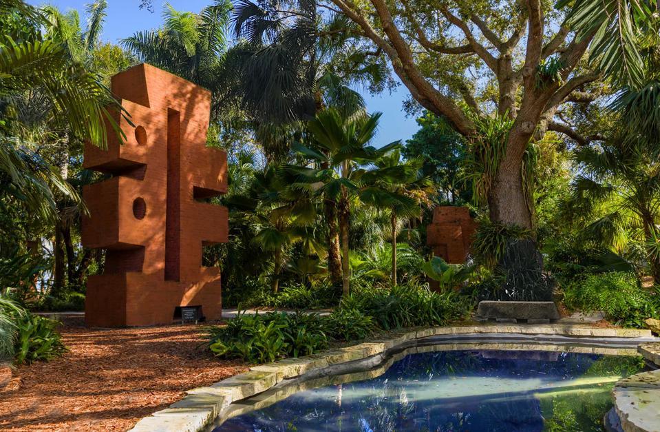 Ann Norton brick sculpture at Ann Norton Sculpture Gardens in West Palm Beach, Florida.