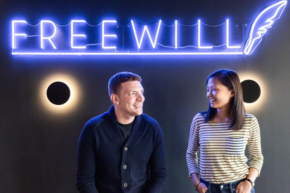 FreeWill Cofounders Patrick Schmitt and Jennifer Xia Spradling