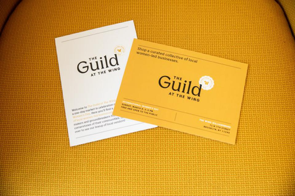 The Guild launch at The Wing Williamsburg, Brooklyn location Sunday, March 8.