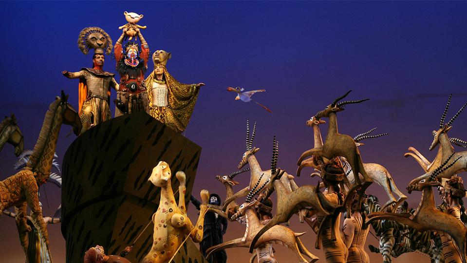 The company of 'The Lion King' On Broadway