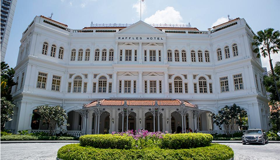 Singapore's iconic Raffles Hotel, first opened in 1887.