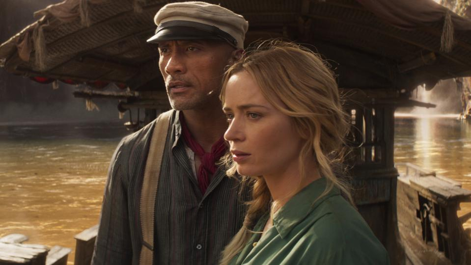 Dwayne Johnson and Emily Blunt in 'The Jungle Cruise'