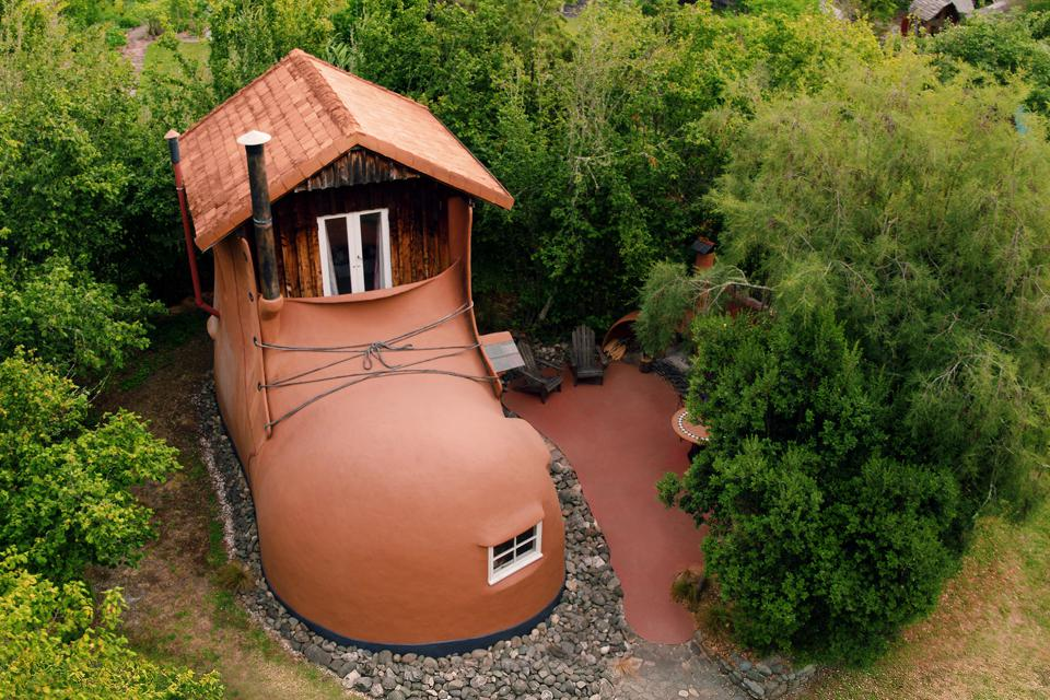 A house in the shape of a boot courtesy of Airbnb