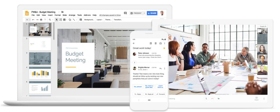 GSuite is Google's popular productivity platform, often used in businesses