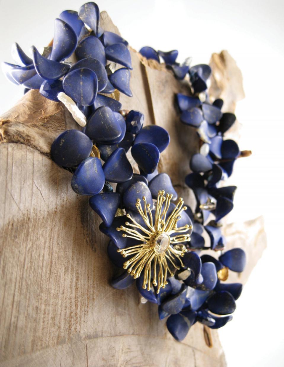 Lapis lazuli necklace designed by Joan Hornig