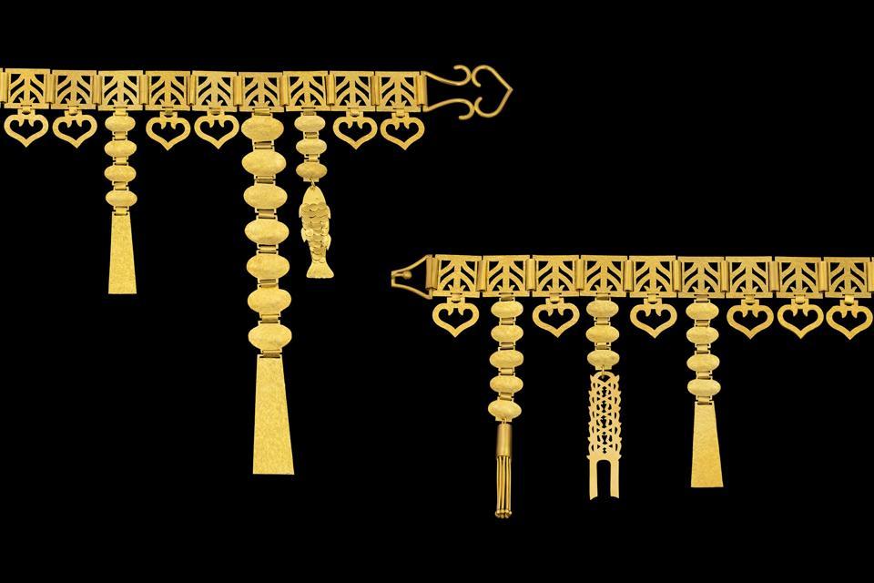 Loren Nicole handmade 22-karat gold belt