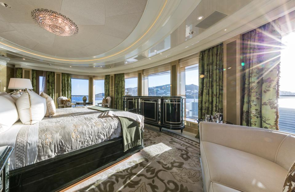 The view from the Master Suite aboard PLVS VLTRA is spectacular.