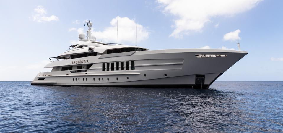Laurentia at anchor.