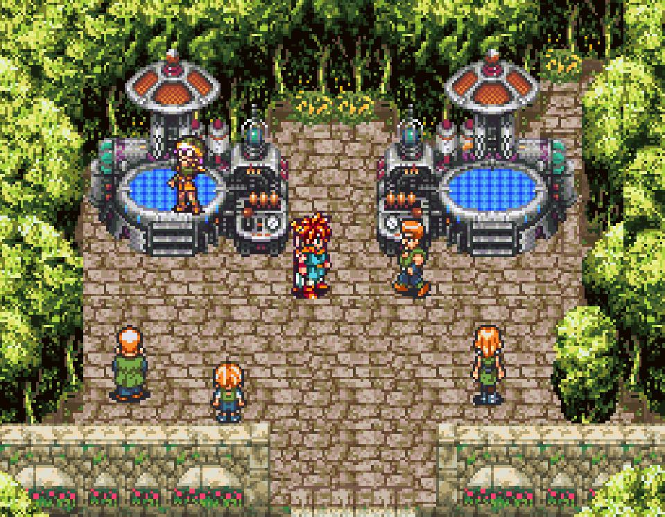 The teleporter in Chrono Trigger, where Marle disappears.