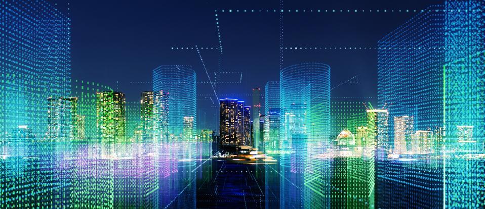 Futuristic city concept.