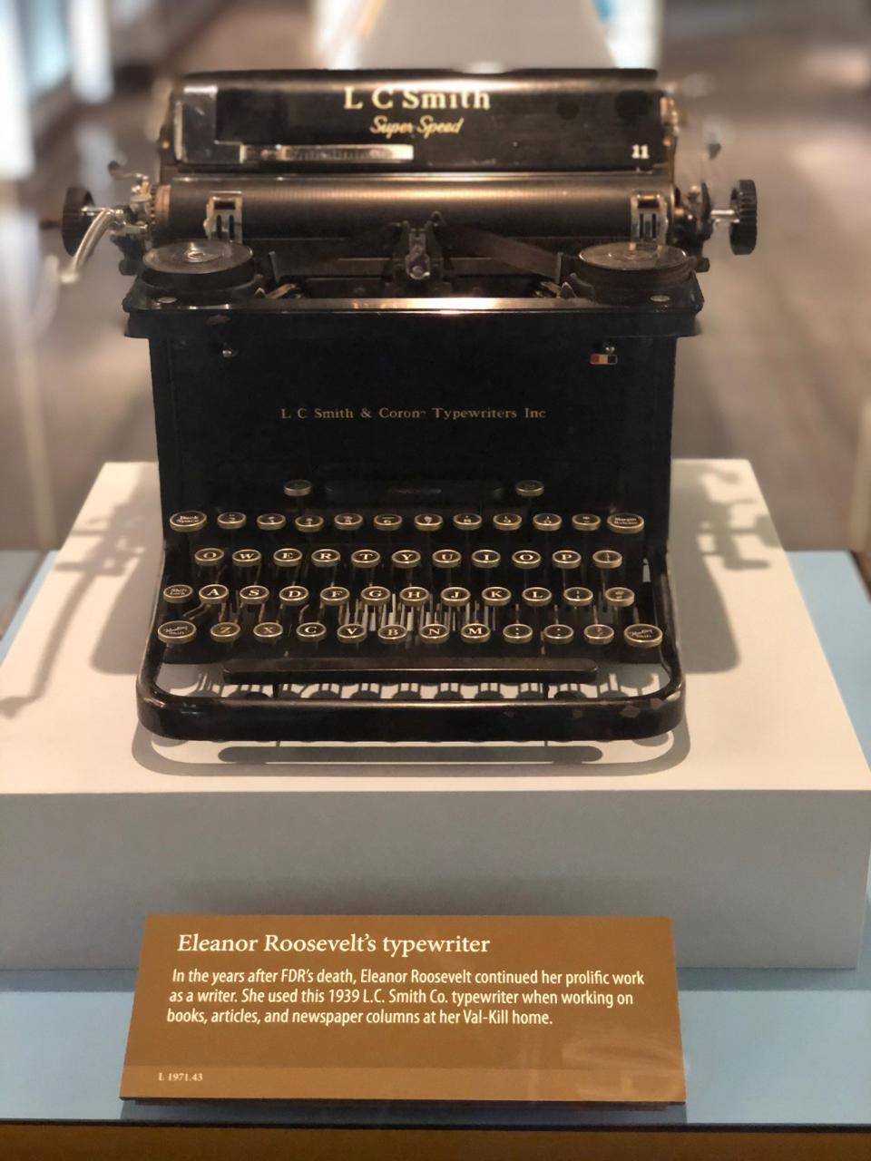 Eleanor Roosevelt's typewriter.