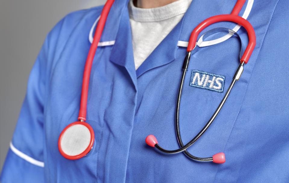 NHS member of staff wearing uniform