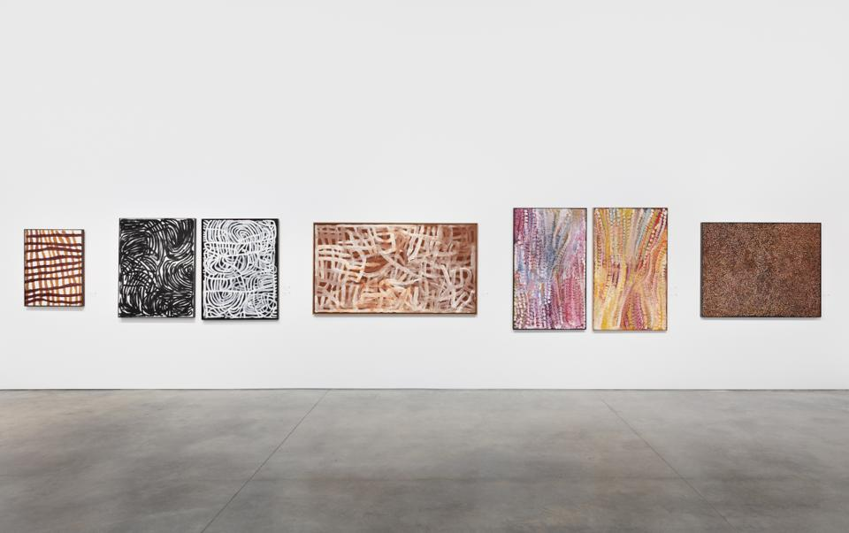 Paintings by Emily Kame Kngwarreye.