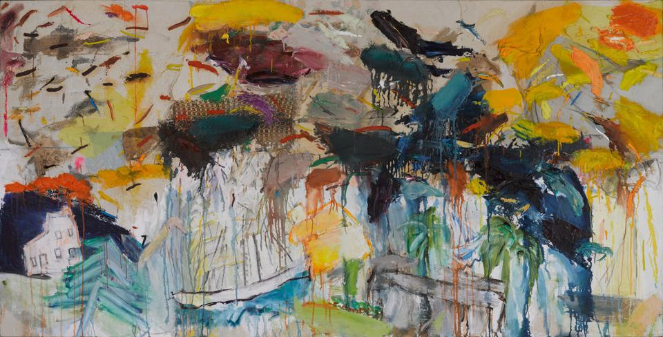 Joan Snyder (born Highland Park, New Jersey, 1940), 'Buried Images,' 1978. Mixed media on canvas, 48 × 96 in. (121.9 × 243.8 cm). Brooklyn Museum; Gift of the Estate of Gifford and Joann Phillips, 2019.6.