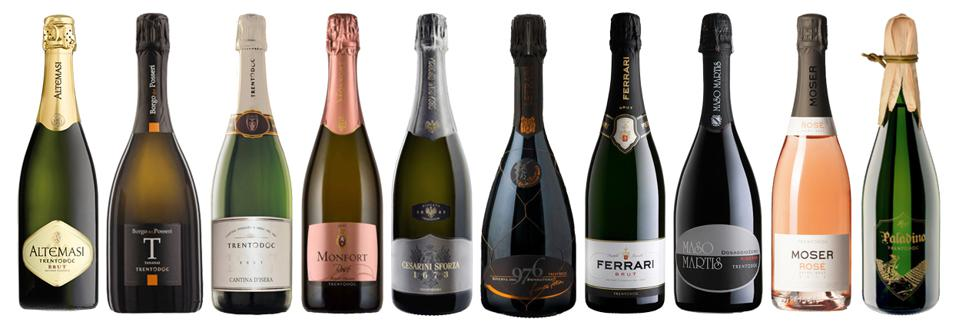 TrentoDOC sparkling wines are produced in Italy's Dolomite mountains.