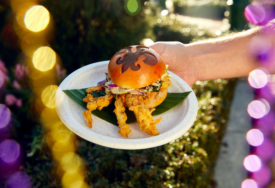 Softshell Crab Slider at the French Quarter Courtyard