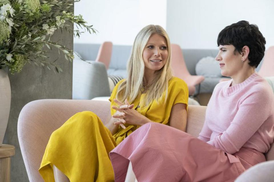 Gwyneth Paltrow and Elise Loehnen on The Goop Lab.
