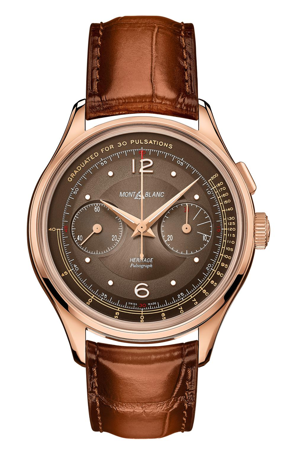 Montblanc Heritage Manufacture Pulsograph Limited Edition watch, 2020