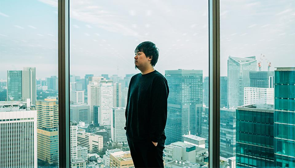 Yuta Tsuruoka in Base's office in Tokyo. The inspiration for Base came from the difficulty of Tsuruoka's mother in setting up an online shop.