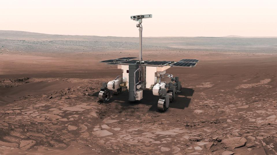 Artist's conception of the ExoMars Rosalind Franklin rover.