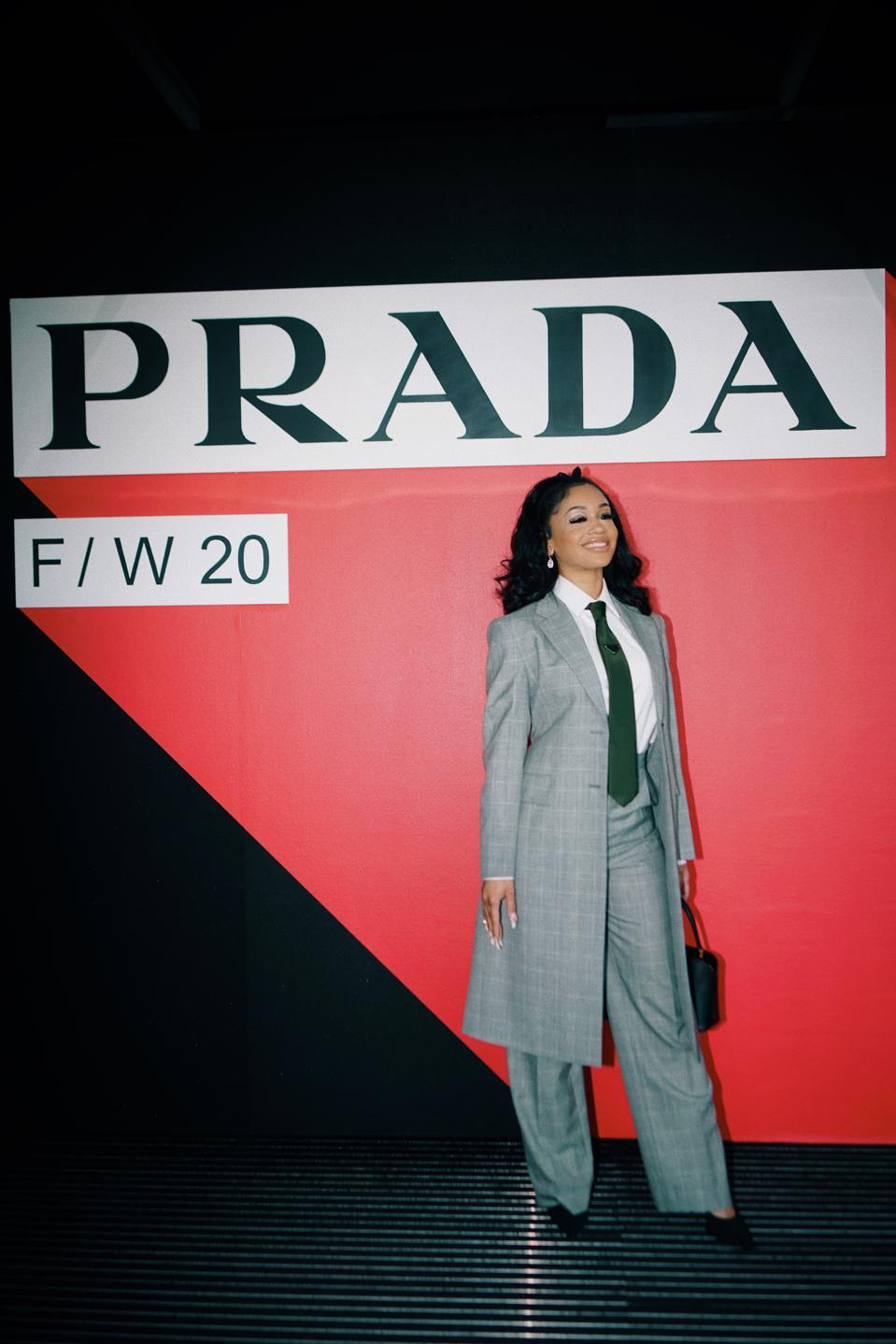 Saweetie at Prada Show in Milan