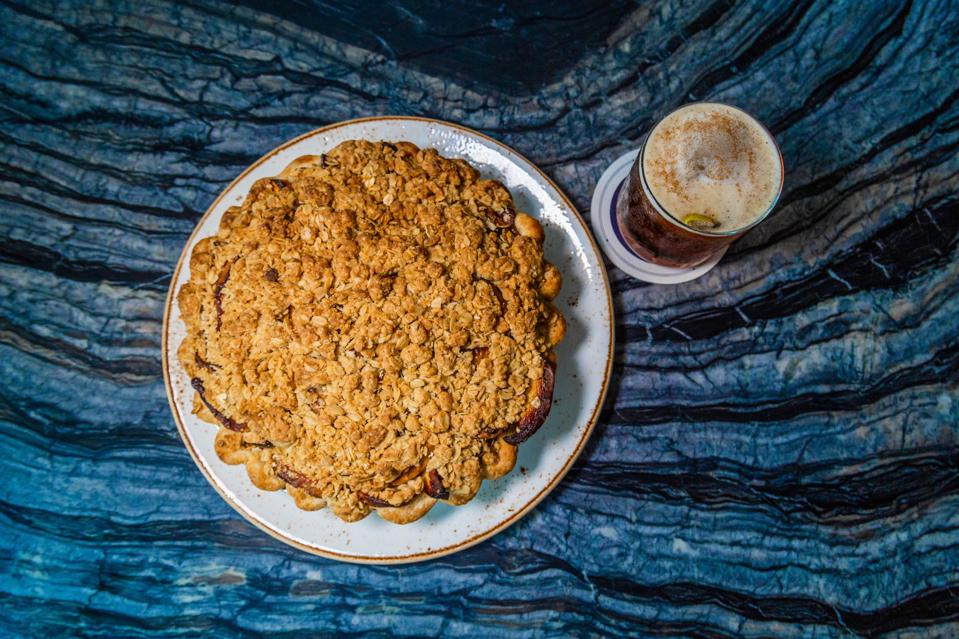 Cheddar thyme apple pie by Jeremy Intille, pastry chef at Fitler Club