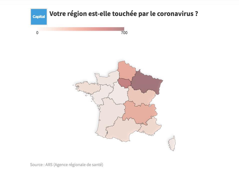 France map coronavirus outbreak epidemic travel restrictions schools closed