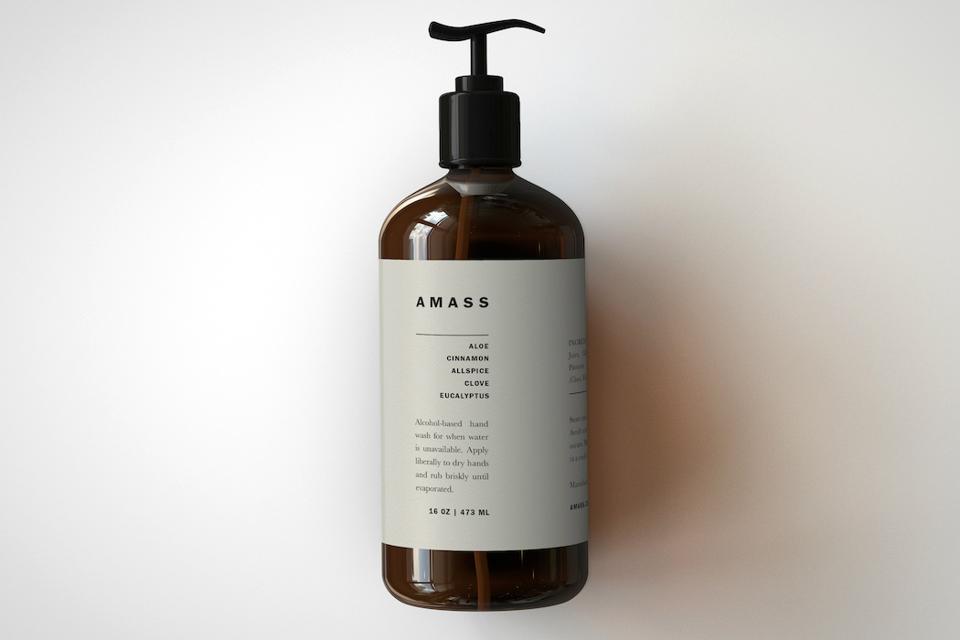 Lavado de manos botánico a base de alcohol AMASS