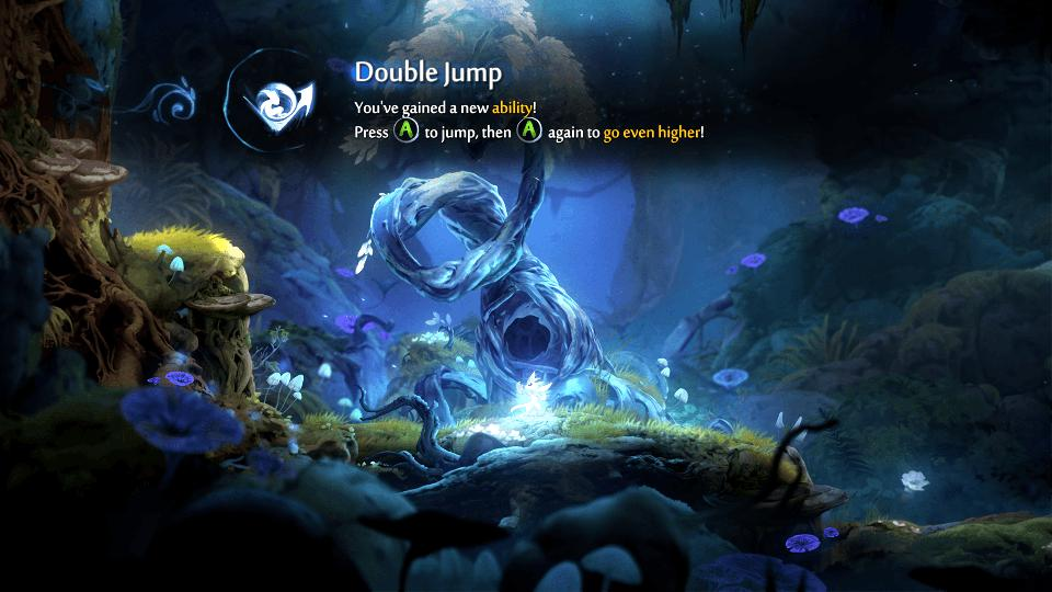 Double jump learning in Ori and the Will of the Wisps