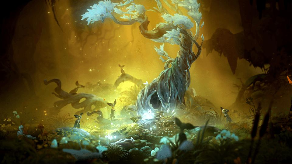 The beautiful landscape of Ori and the Will of the Wisps.
