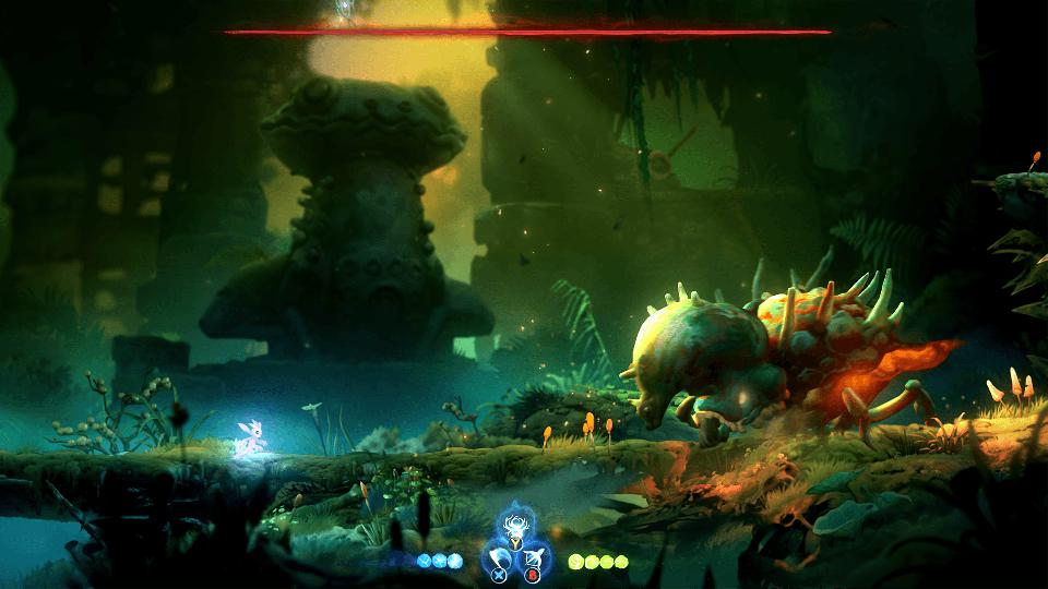 The first boss in Ori and the Will of the Wisps.