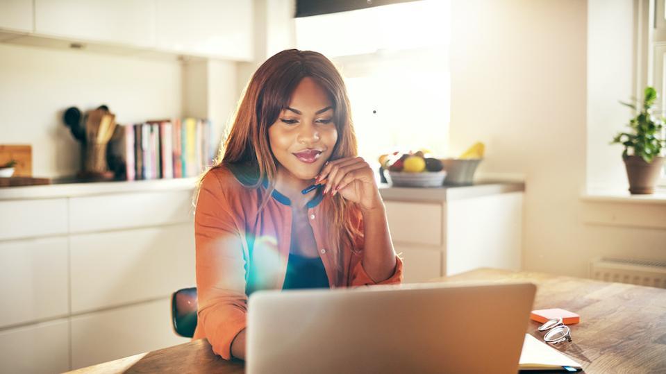female entrepreneur in home office