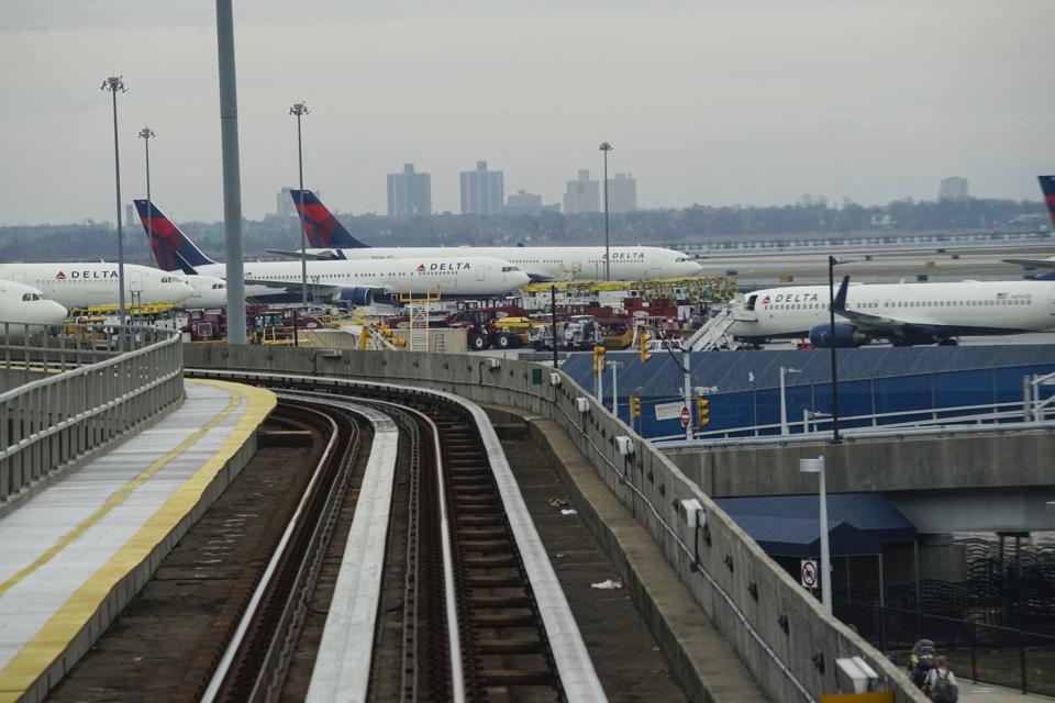 Delta aircraft at JFK