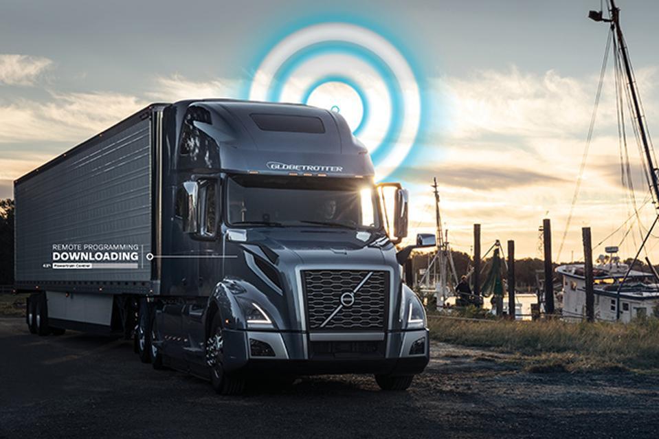 Volvo Truck WIth Remote Diagnostics