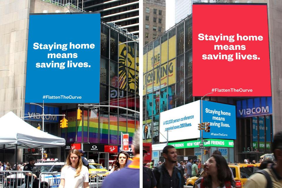 A mock-up of a billboard in Times Square today bought by Reddit Co-Founder Alexis Ohanian.