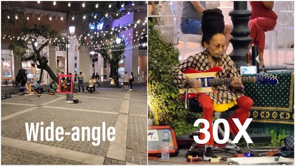 S20 Ultra's 30X zoom.