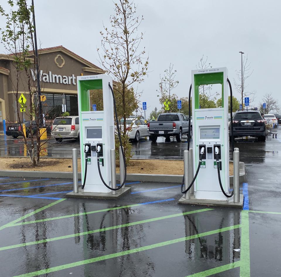 Electrify America at Walmart in Santa Clarita, Calif.