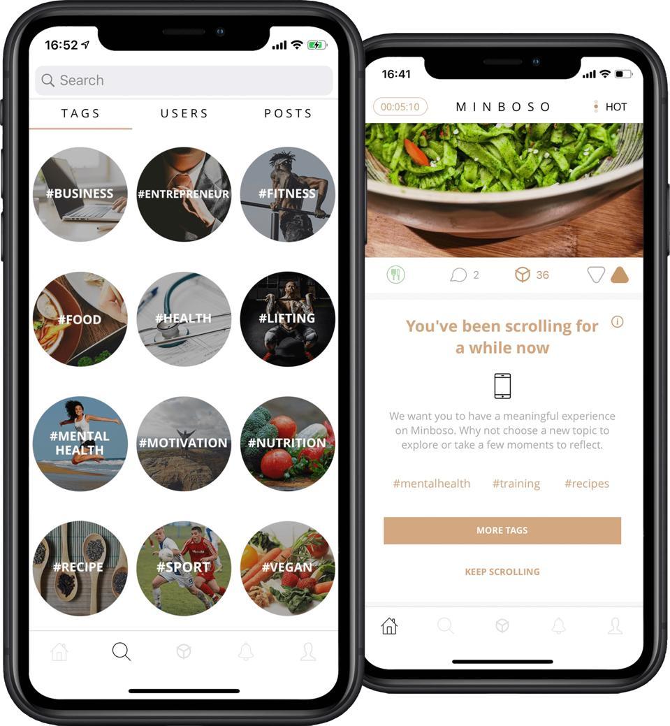 Minboso wellness app