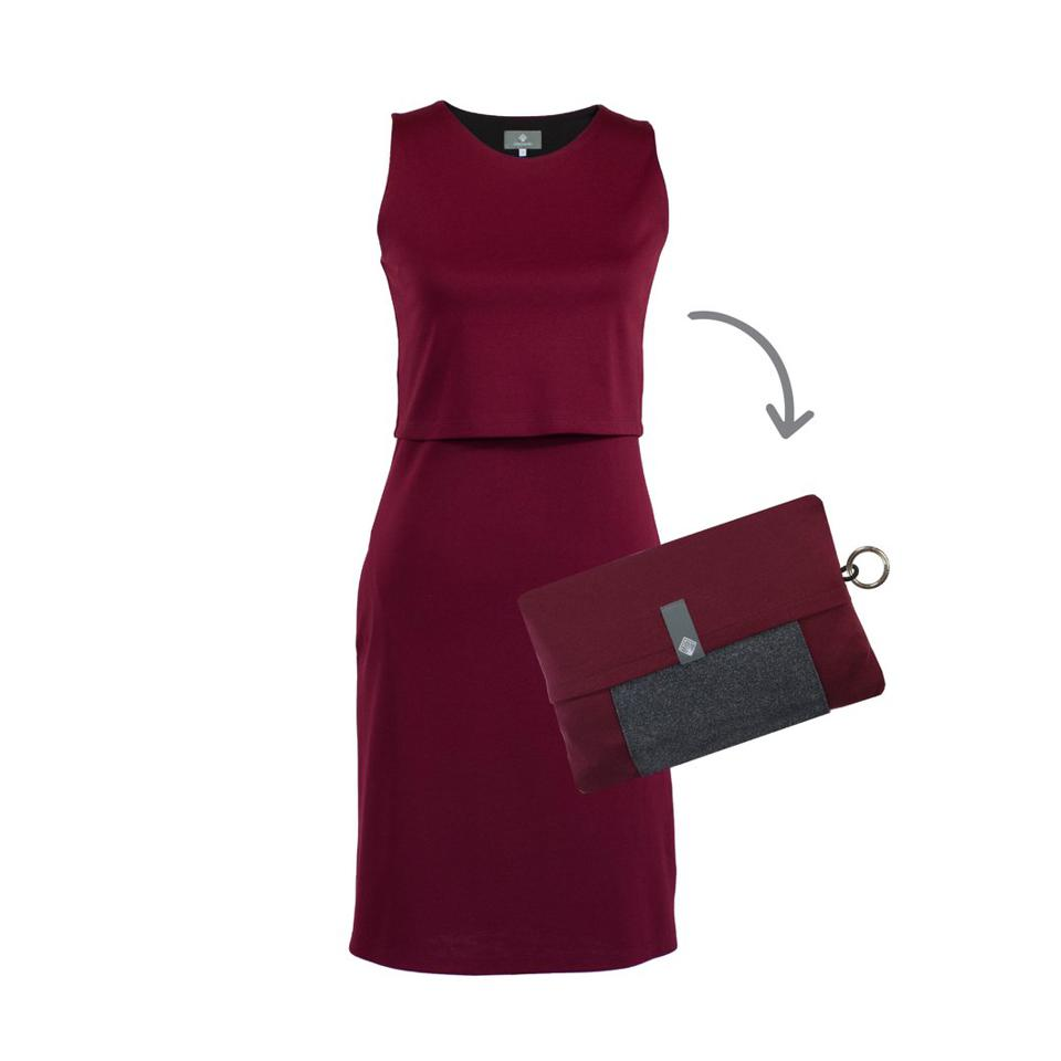 red travel dress