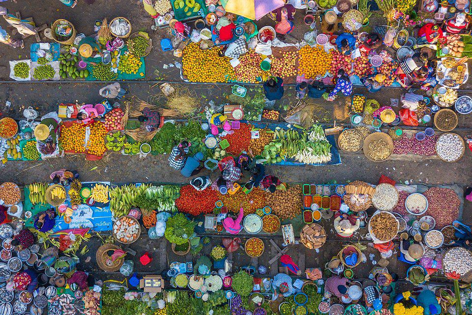 Mandalay Morning Market in Myamar