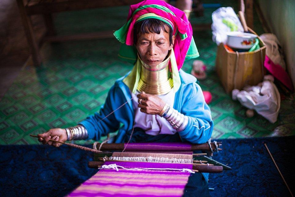 Traditional weaver in Myanmar