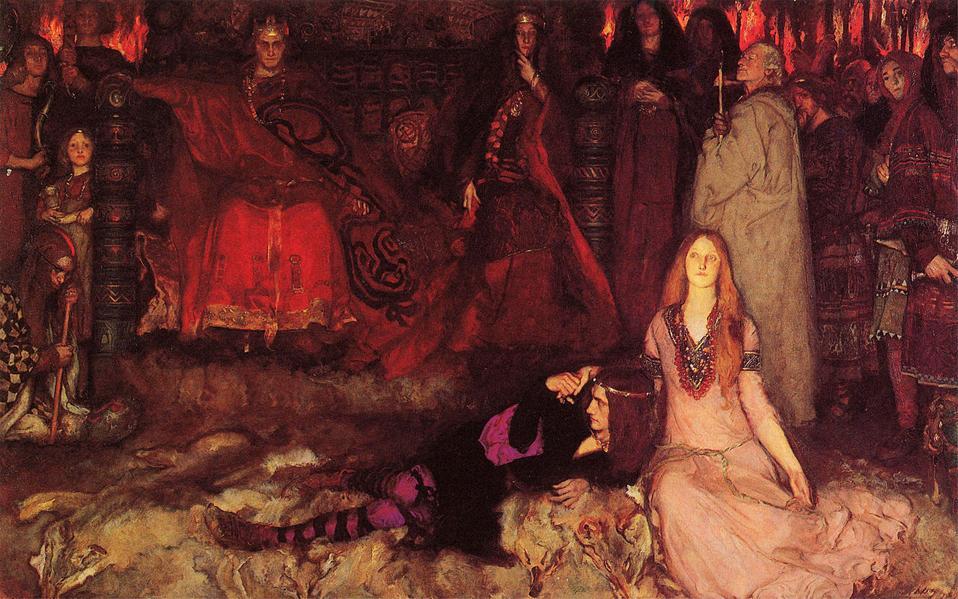 Hamlet & Ophelia, by Edwin Austin Abbey