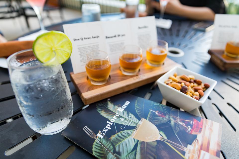 PUERTO RICO - A rum flight at Caicu Bar