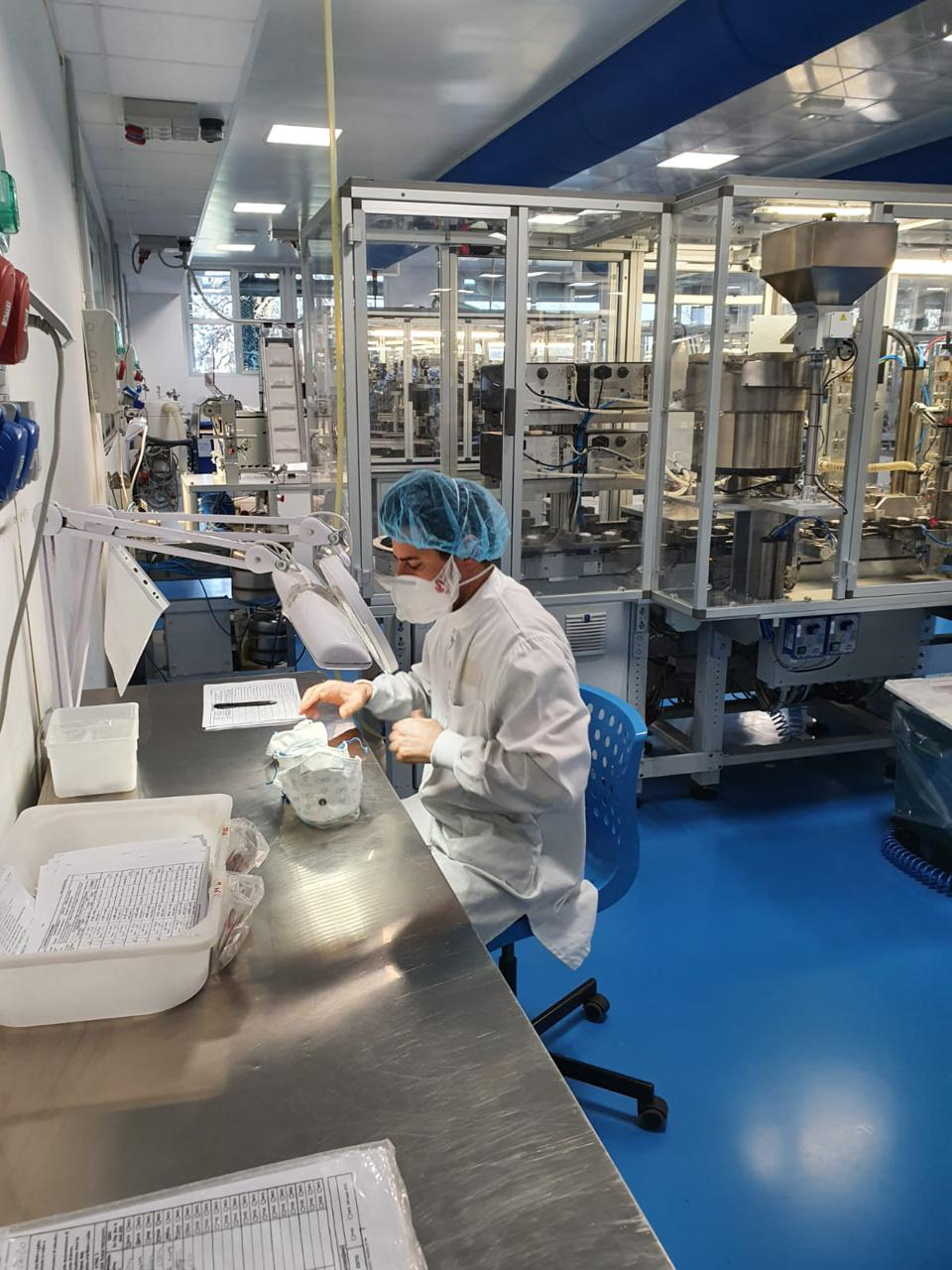 Production line for GVS masks in Italy.