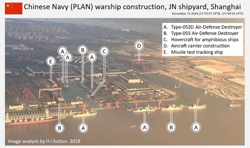 Chinese Navy PLAN ship yard