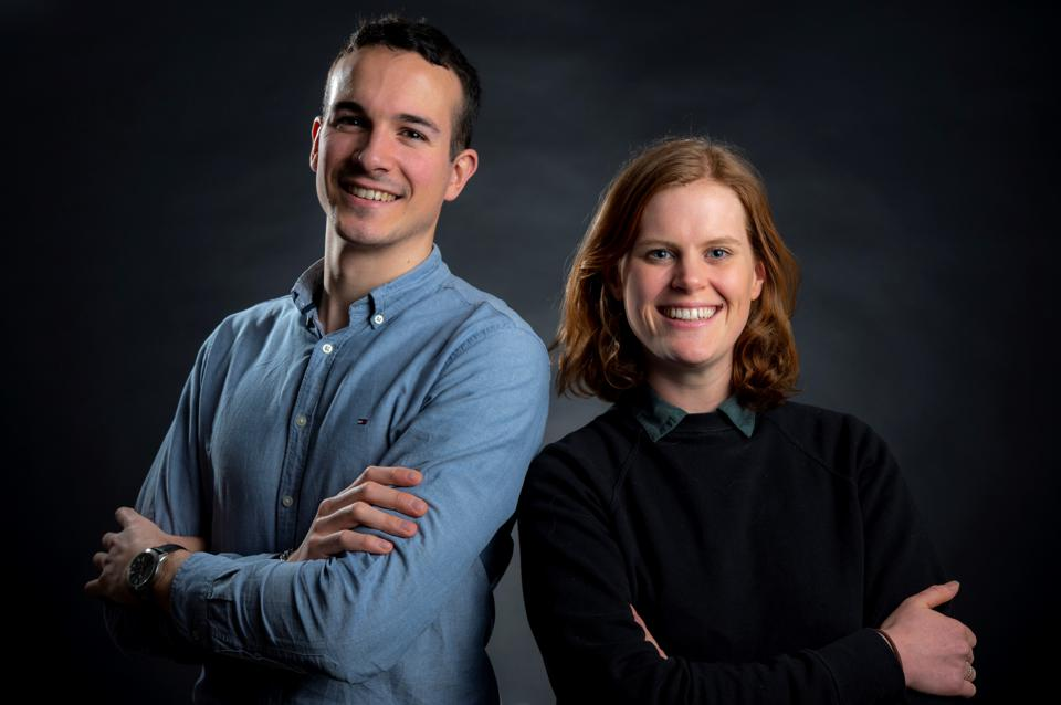 Alexandre Meurisse and Beth Lomax, researchers at the European Space Agency